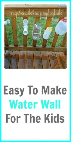 Easy DIY Water Wall- kids activity for summer. This has been a great way for my little ones to stay busy and cool all at once while playing outside. Fun Outdoor Activities, Summer Activities For Kids, Science Activities, Educational Activities, Toddler Activities, Kids Fun, Outdoor Fun, Outdoor Ideas, Water Play For Kids
