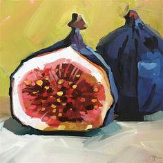 "Daily Paintworks - ""Just a Fig"" - Original Fine Art for Sale - © Teddi Parker"