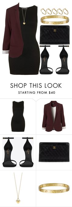 """Style #3683"" by vany-alvarado ❤ liked on Polyvore featuring Topshop, Yves Saint Laurent, Chanel, Tiffany & Co., Giallo and ASOS"