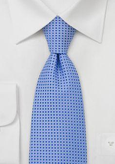 Foulard Design Silk Tie in Light Blue