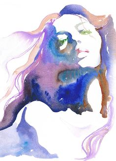 Watercolor Fashion Illustration by Cate Parr. Art And Illustration, Watercolor Illustration, Watercolor Paintings, Watercolor Portraits, Watercolours, Watercolor Ideas, Portrait Illustration, Abstract Watercolor, Watercolor Water