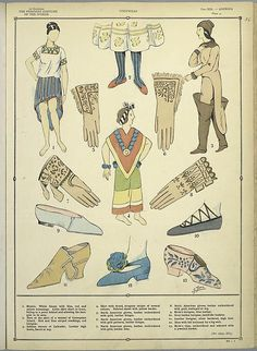 The history of the feminine costume of the worl...