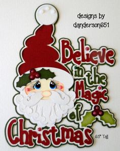 Santa-Christmas-Paper-Pieced-PreMade-Die-Cut-Scrapbook-Album-Border facebook - danderson651