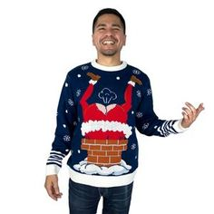 be sure to get a laugh when you wear this Gassy Santa Sound Button Ugly Christmas Sweater to your next holiday party! Ugly Christmas Shirts, Funny Christmas Sweaters, Christmas Humor, Christmas Shopping, Easy Costumes, Super Hero Costumes, Costume Ideas, Career Costumes, Movie Character Costumes