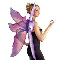 Fancy Dress AccessoriesJumbo Glitter Fairy Wings - Purple and Silver£19.45each