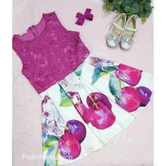 Vestido Infantil Gipir cerejas Luluzinha - Vestidos  • Pozinho Mágico