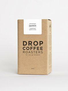 Drop Coffee Roasters — The Dieline - Branding & Packaging Cool Packaging, Coffee Packaging, Brand Packaging, Design Packaging, Organic Packaging, Chocolate Packaging, Bottle Packaging, Bourbon, Coffee Box