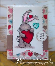Sent With Love by Christy Gets Crafty using Bebunni by Crafter's Companion, Spectrum Noir (video tutorial)