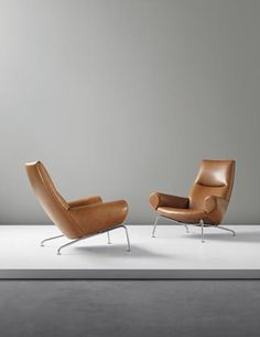 PHILLIPS : UK050414, Hans J. Wegner, Pair of chairs from the 'Ox' suite, model no AP-47