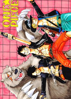 One Piece (Monkey D. Luffy, Portgas D. Ace, Sabo)