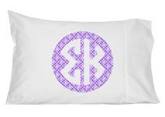 Sigma Kappa Personalized Monogram Pillowcase by GreekGraffitiDorm on Etsy