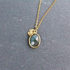 labradorite pansy necklace