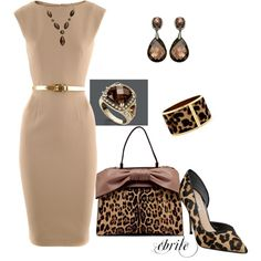 Another great classic look with leopard accessories!
