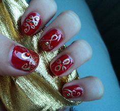 india inspired nails.