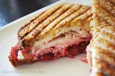 Turkey+Brie+Cranberry+Panini #SundaySupper