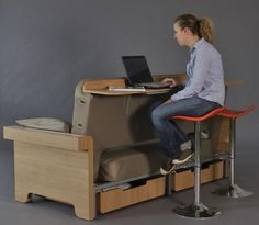 ugly but good concept - desk at back of sofa
