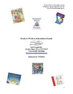 Books That Work on Articulation Skills   - Pinned by @PediaStaff – Please Visit  ht.ly/63sNt for all our pediatric therapy pins
