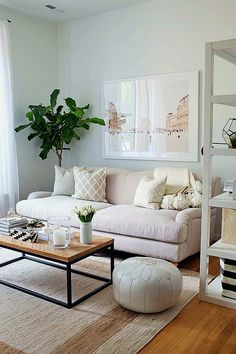 Accent Walls In Living Room, Living Room White, Small Living Rooms, New Living Room, Living Room Modern, Living Room Furniture, Living Room Decor, Bedroom Modern, Sofa Furniture