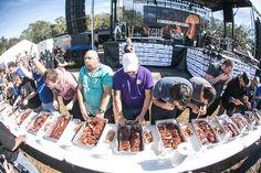Theres some serious rib eatin going on. #SmokinShowdown