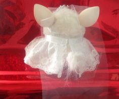 """Clothes for Furby or New Furby Boom Handmade Outfit """"The Bride Pretty Lace"""" 