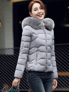 151f07dfca0 Women Puffer Jacket Faux Fur Hooded Short Quilted Coat For Winter  coat