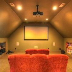 Media Room Bonus Room Design, Pictures, Remodel, Decor and Ideas - page 14
