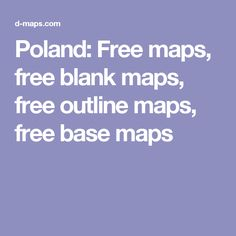 Poland: Free maps, free blank maps, free outline maps, free base maps