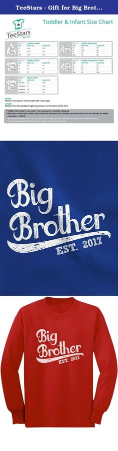 TeeStars - Gift for Big Brother 2017 Toddler/Kids Long sleeve T-Shirt 2T Red. Best gift idea for big brother! Birth announcement, baby shower, birthdays, Christmas present for son / grandson. Cute little kids crew-neck long sleeved tee top. Premium quality, 100% combed-cotton (preshrunk,) machine washable. Available in a wide variety of colors and sizes: 2T-5/6T - Choose the size and color options from the drop-down list. The best gift ideas for kids birthdays, special occasions, holidays...
