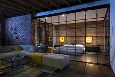 Sfeervolle industriële loft slaapkamer | Inrichting-huis.com
