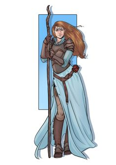 """"""" Casey have you met Gwen? Half-Elf Cleric of Eldath with a sinister past? (Art by or Talyssa, halfling bard extraordinaire? (Art by Female Character Inspiration, Fantasy Character Design, Fantasy Inspiration, Character Creation, Character Concept, Character Art, High Fantasy, Fantasy Rpg, Fantasy Characters"""