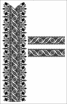 Cross Stitch Borders, Cross Stitch Charts, Cross Stitch Designs, Cross Stitching, Cross Stitch Patterns, Embroidery Neck Designs, Couture Embroidery, Embroidery Motifs, Crochet Curtains