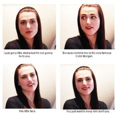 Yeeeees Omg Katie I love you ... you understand us you understand merlin fangirl that why we love you to death
