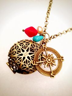 Sailor Essential Oil Diffusing Necklace by OverYourHeart on Etsy, $18.00