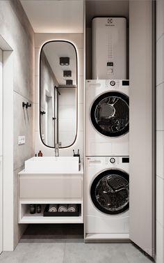 Bathroom Design Luxury, Modern Bathroom Decor, Bathroom Design Small, Small House Interior Design, Rustic Home Design, Laundry Room Layouts, Laundry Room Design, Bathroom Design Inspiration, Apartment Interior