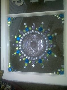 Glass plates glued to a windownius do it yourself creations junk chic diy window art solutioingenieria Gallery