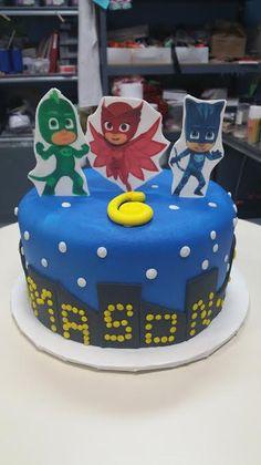 PJ Masks Birthday Cake - Adrienne & Co. Bakery