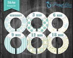 Baby Boy Closet Dividers to Organize Clothing for Baby Room   5th Ave by PineappleCoveDesigns on Etsy https://www.etsy.com/listing/191566650/baby-boy-closet-dividers-to-organize