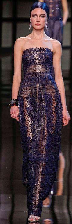 Sultry ensemble  Armani Prive, S/S 2014  | Couture.
