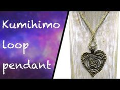 How to make a loop of kumihimo to carry a pendant - YouTube