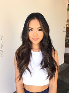 Photo of Mary Tran - Santa Monica, CA, United States. Soft blending chocolate subtle Ombre on Asian hair