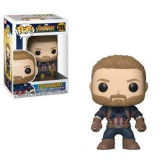 From Avengers Infinity War, Captain America, as a stylized POP vinyl from Funko! Figure stands 3 inches and comes in a window display box. Check out the other Avengers Infinity War figures from Funko! Collect them all!
