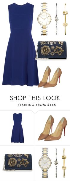 """""""Untitled #327"""" by cathatin ❤ liked on Polyvore featuring Joseph, Christian Louboutin, Emilio Pucci and FOSSIL"""