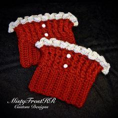 Crochet Ruffle Boot Cuffs
