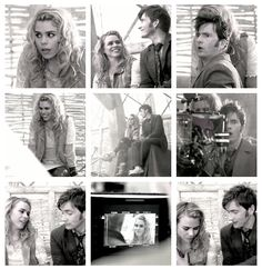 ❦ (gif - click on pic) vervainrose: Billie Piper and David Tennant in Behind the Lens - The Day of the Doctor (x)