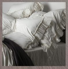 Matteo ruffled and crumpled divine bed linen