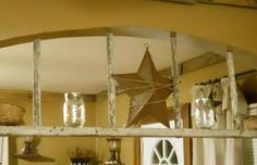 Hometalk :: After many hours hunting for vintage DIY projects to decorate the arch…her hub came up with an old ladder.