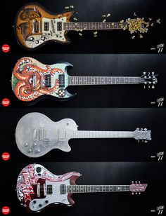4 nouvelles guitares customisées dispo !