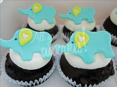 Cute Elephant Cupcakes