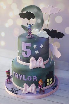 A vampirina themed cake Bubble Cake, Poppy Cake, Birthday Box, Birthday Cakes, Birthday Ideas, Carnival Birthday Parties, Themed Cakes, Party Cakes, Birthdays