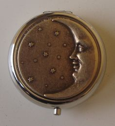 Victorian Steampunk Man in the Moon Pill Case Or Trinket Box Moon Eclipse. $17.50, via Etsy.
